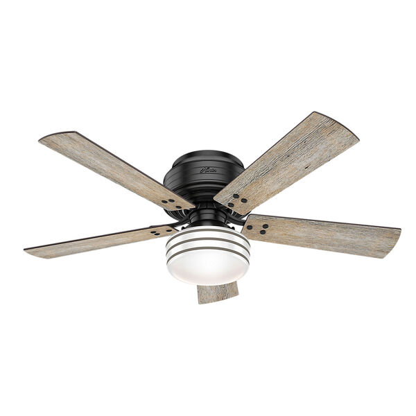 Cedar Key Matte Black 52-Inch One-Light LED Ceiling Fan, image 1