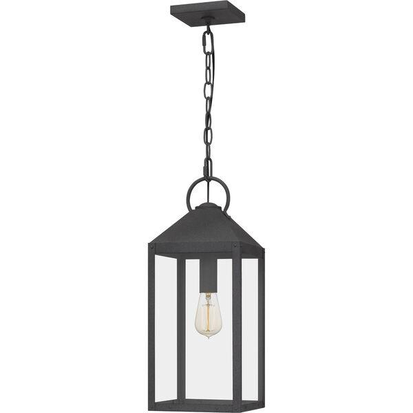 Thorpe Mottled Black One-Light Outdoor Pendant, image 1
