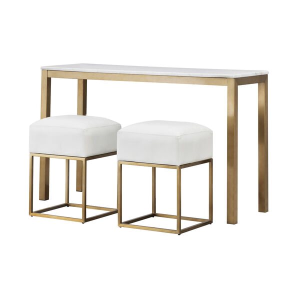 Gold Marble Top Console Table, image 4