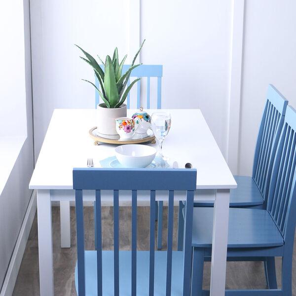 Greyson 5-Piece Dining Set - White/Powder Blue, image 2