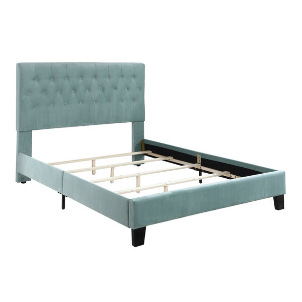 Linden Twin Light Blue Twin Upholstered Bed, image 4