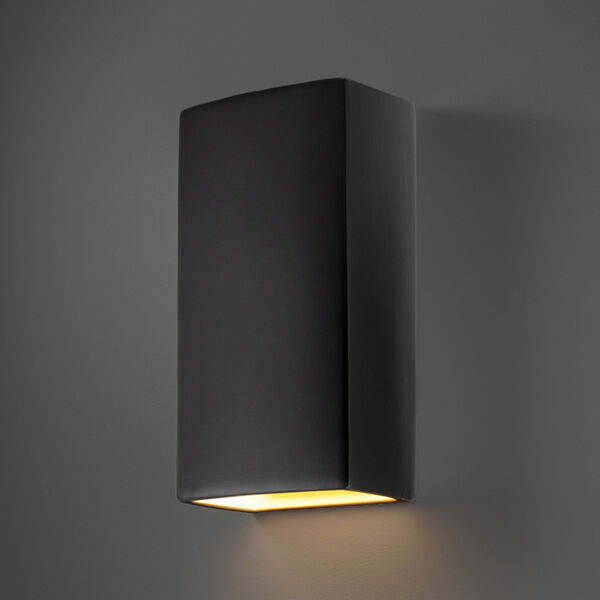 Ambiance Carbon Matte Black 11-Inch Closed Top GU24 LED Rectangle Outdoor Wall Sconce, image 2