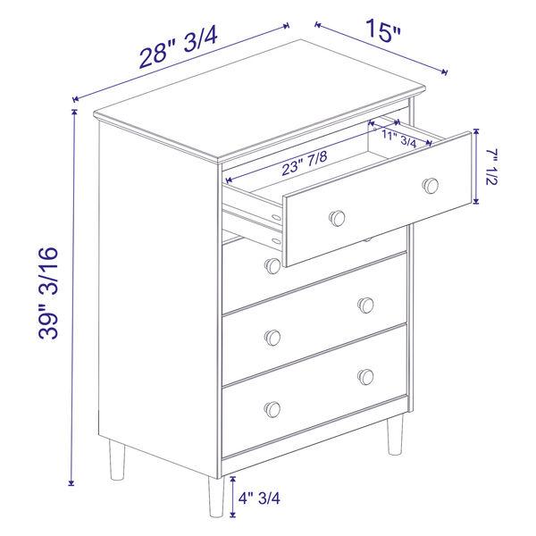 Caramel Four Drawer Dresser, image 5