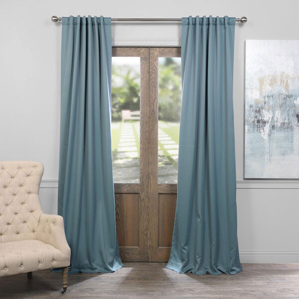 Dragonfly Teal 50 x 96-Inch Blackout Curtain, image 1