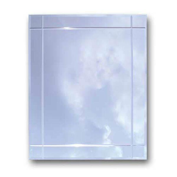 Steel Bodied V-Groove Mirror Medicine Cabinet, image 1
