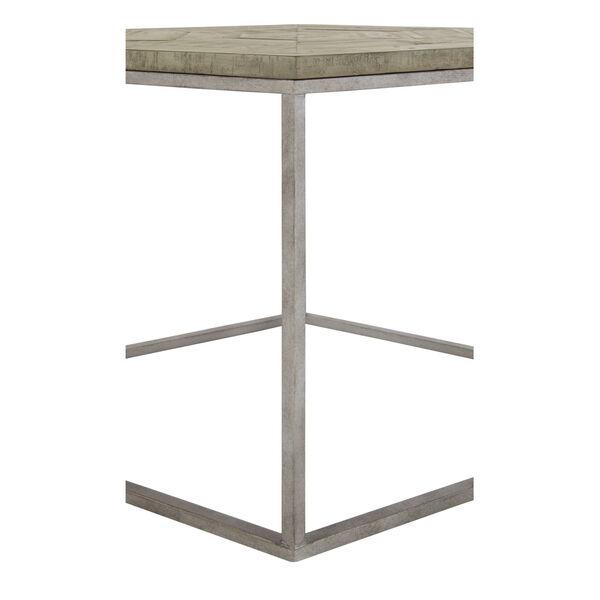 Glazed Silver and Brown Loft Gresham Hexagonal End Table, image 4