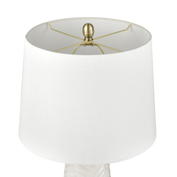 Bynum White and Antique Brass One-Light Table Lamp, image 3