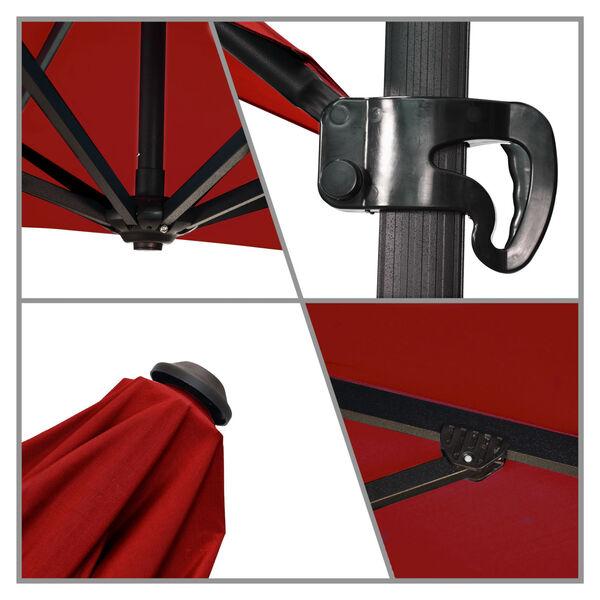 Cali Bronze with Jockey Red Nine-Feet Sunbrella Patio Umbrella, image 4