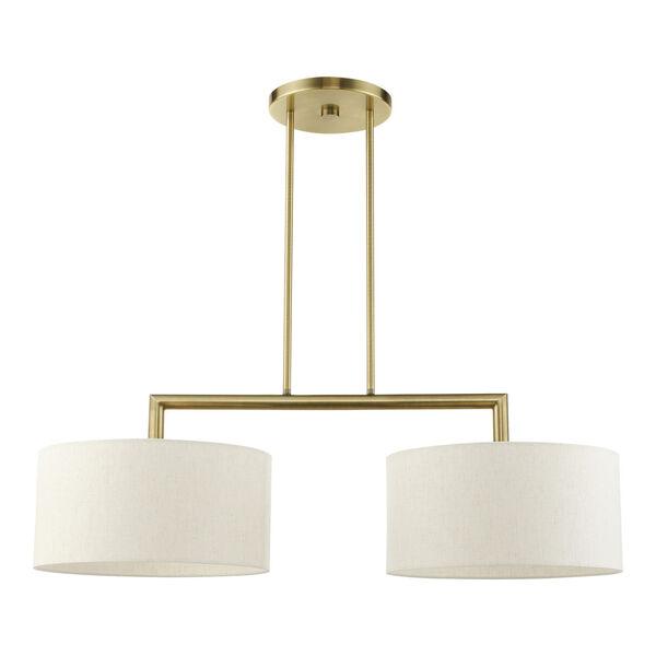 Meridian Antique Brass Two-Light Pendant, image 2