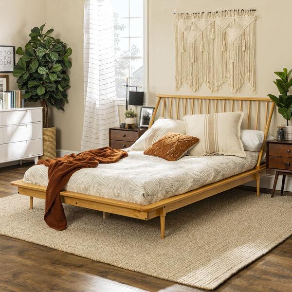 Light Oak Queen Spindle Bed, image 1