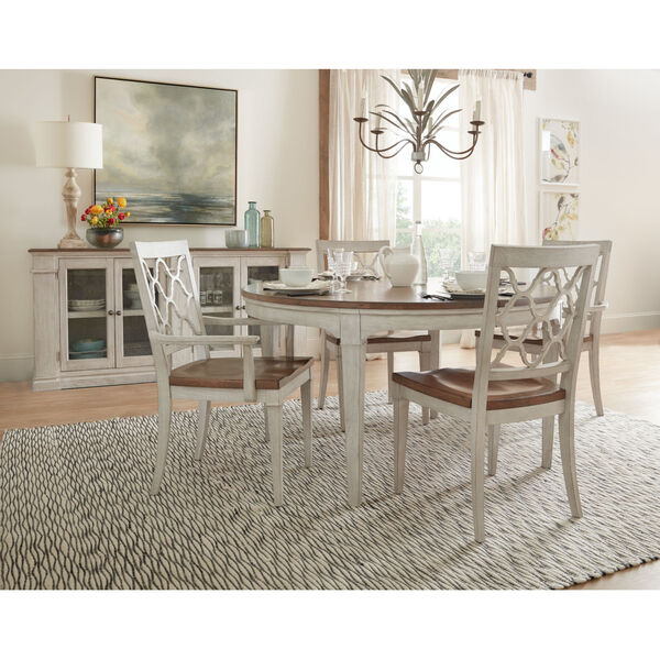 Montebello Danish White and Carob Brown Side Chair, image 3