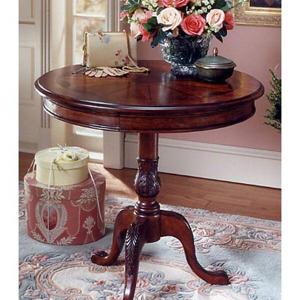 Plantation Cherry Round Pedestal Table, image 1