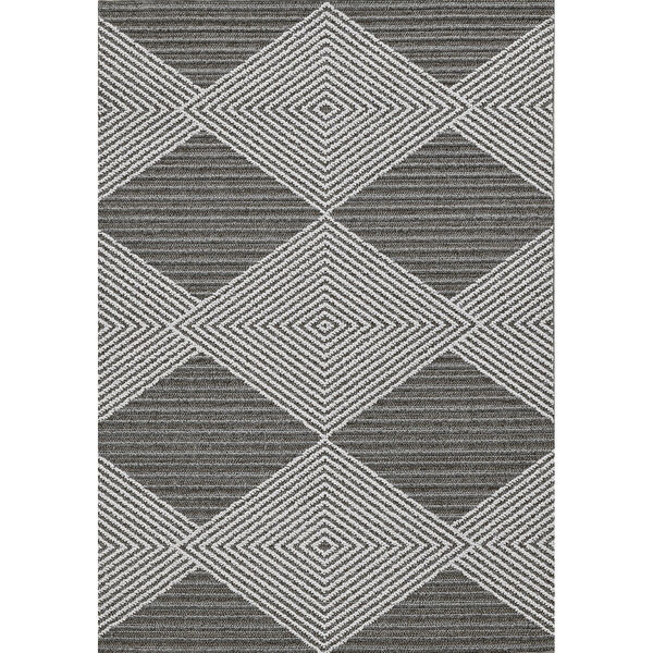 Terrace Gray and Ivory Rectangular: 4 Ft. x 5 Ft. 9 In. Rug, image 1