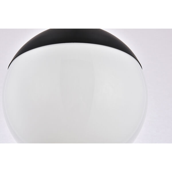 Eclipse Black and Frosted White 10-Inch One-Light Semi-Flush Mount, image 6