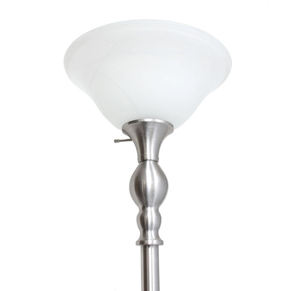 Quince Brushed Nickel White Shade One-Light Floor Lamp, image 5