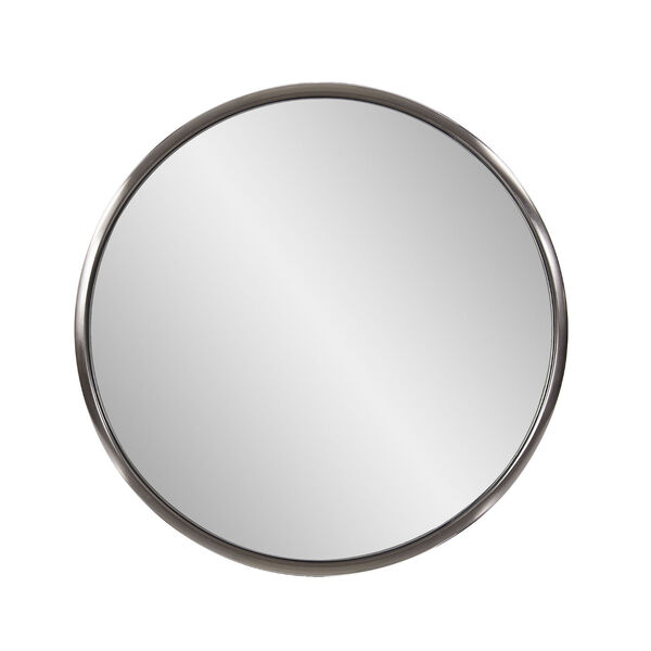Yorkville Brushed Titanium 20-Inch Round Wall Mirror, image 1