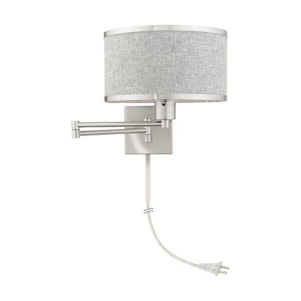 Park Ridge Brushed Nickel One-Light Swing Arm Wall Lamp, image 3