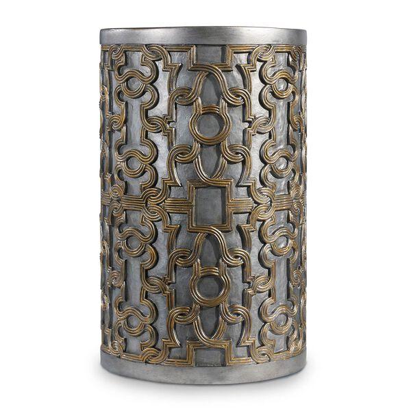 Melange Gold Gia Drum Table, image 1