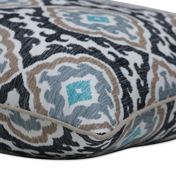 Agrami Black Tan Gray 18-Inch Throw Pillow, Set of Two, image 2