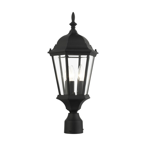 Hamilton Textured Black 10-Inch Three-Light Outdoor Post Lantern, image 5