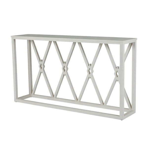 Alandra Cerused White and Stained Gold Console Table, image 5