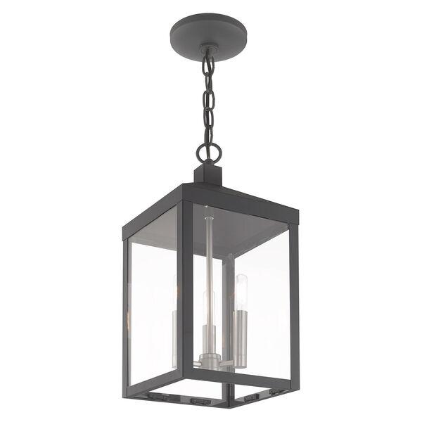 Nyack Scandinavian Gray Eight-Inch Three-Light Pendant Lantern, image 5