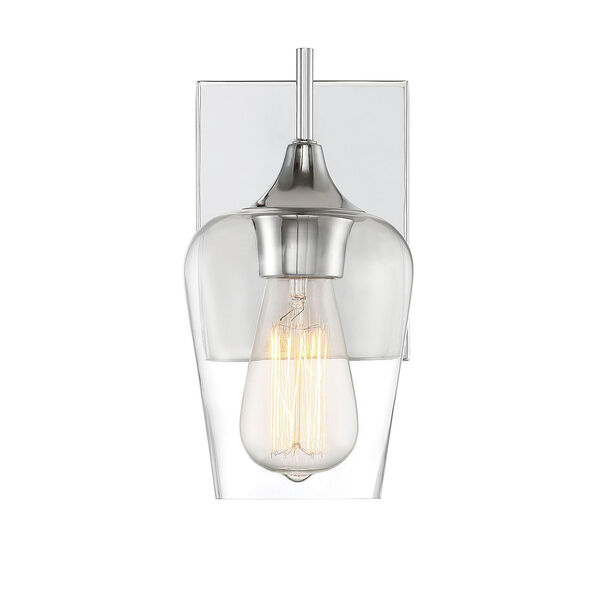 Selby Polished Chrome One-Light Wall Sconce, image 1