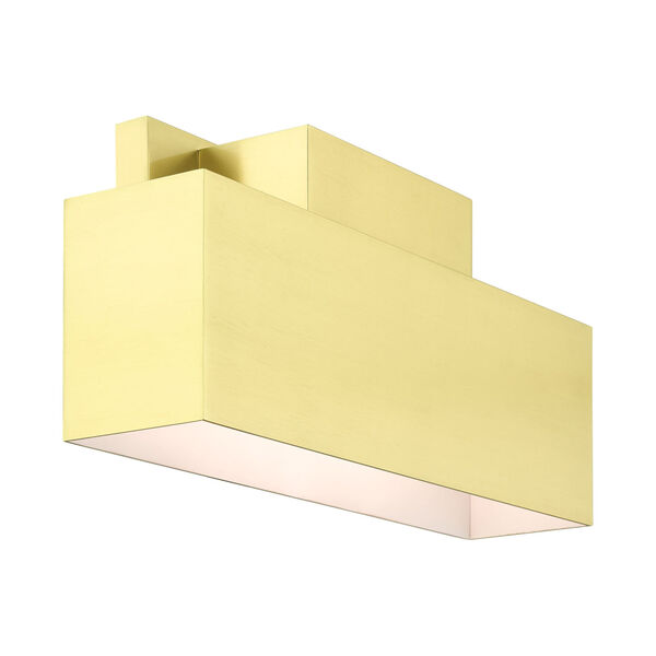 Lynx Satin Brass Two-Light Outdoor ADA Wall Sconce, image 5