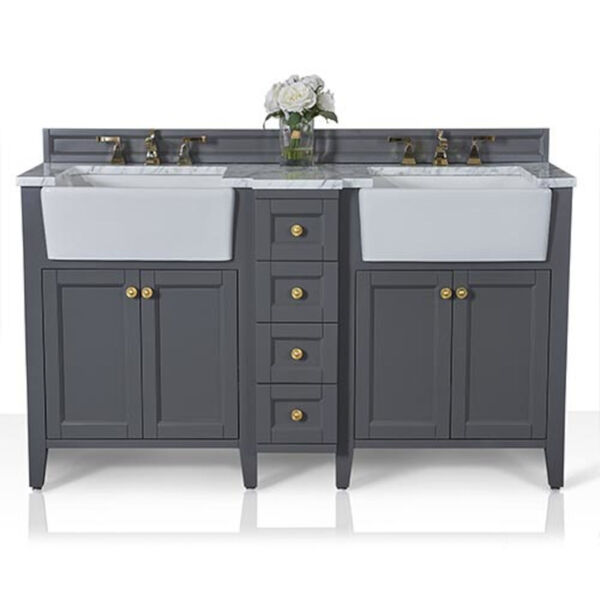 Adeline Sapphire 60-Inch Vanity Console with Farmhouse Sinks, image 5