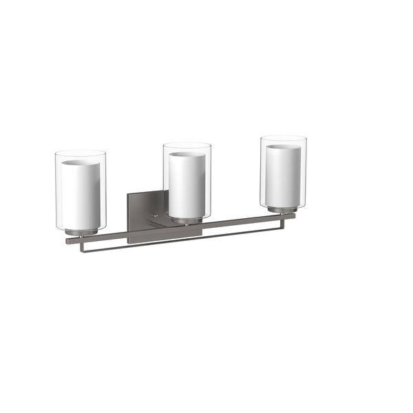 Harrow Brushed Nickel Three-Light Vanity - (Open Box), image 5