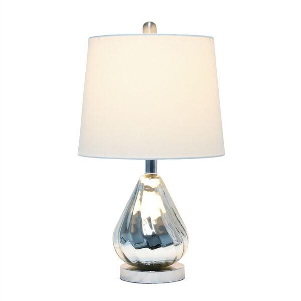 Cerise Chrome White One-Light Table Lamp, image 2