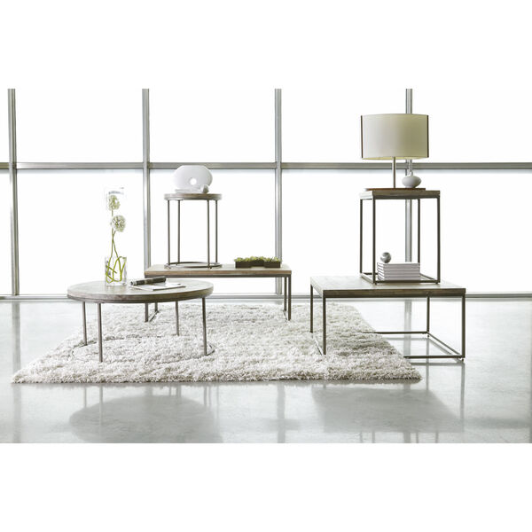 Julien Rectangle Coffee Table with Acacia Wood Top, image 3