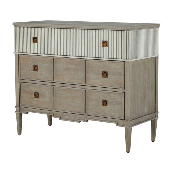 Winslet Sesame White and Cerused Gray Chest, image 1