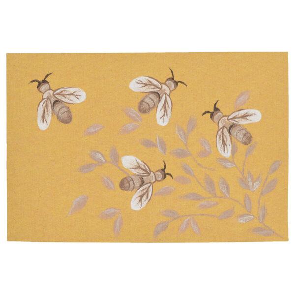 Liora Manne Illusions Honey Bees Indoor/Outdoor Floor Mat, image 1