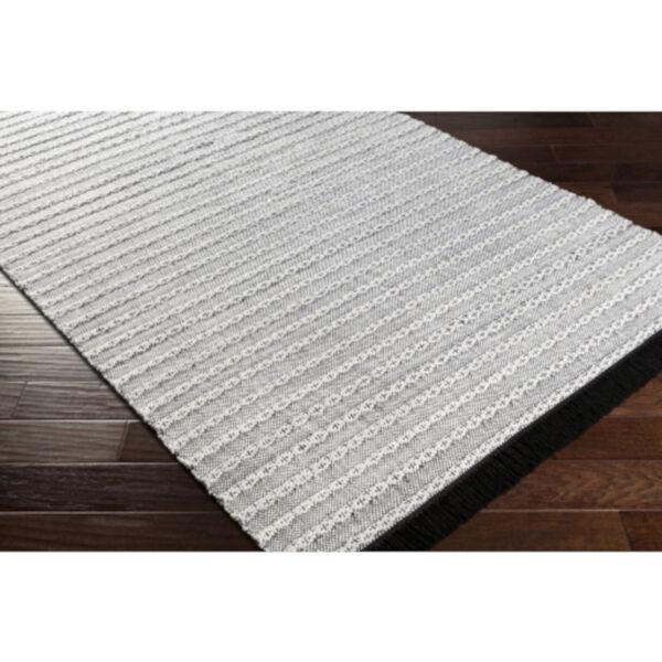 Azalea Black, Silver Gray and White Rectangular  Rug, image 4
