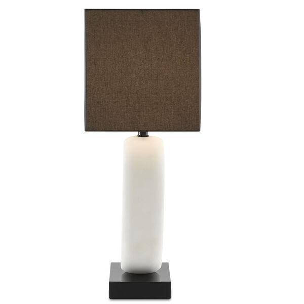Kirkos Gesso White and Glossy Black One-Light Table Lamp, image 4