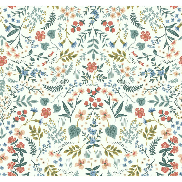 Rifle Paper Co. Beige and Coral Wildwood Wallpaper, image 2