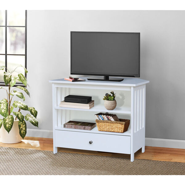 White 35-Inch TV Stand, image 1