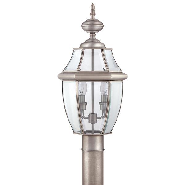 Newbury Pewter Outdoor Post-Mounted Lantern, image 2