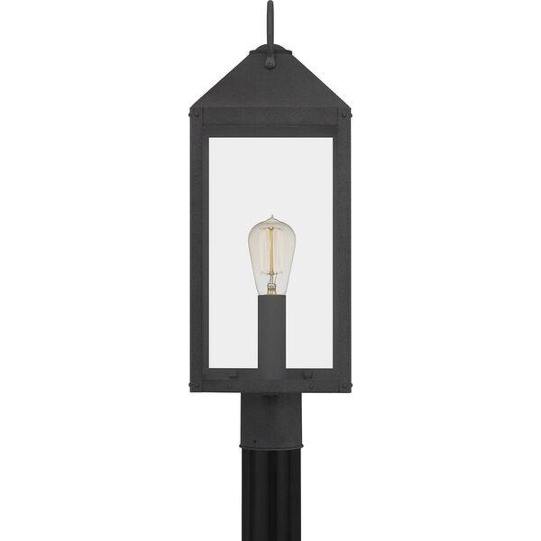 Thorpe Mottled Black One-Light Outdoor Post Mount, image 4