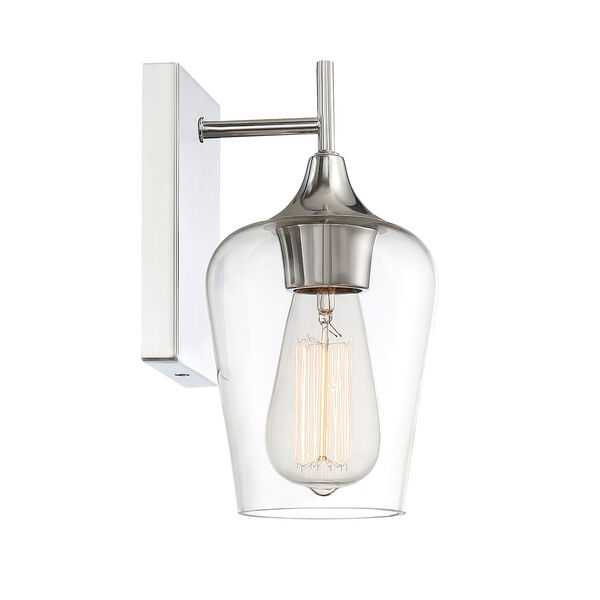 Selby Polished Chrome One-Light Wall Sconce, image 2