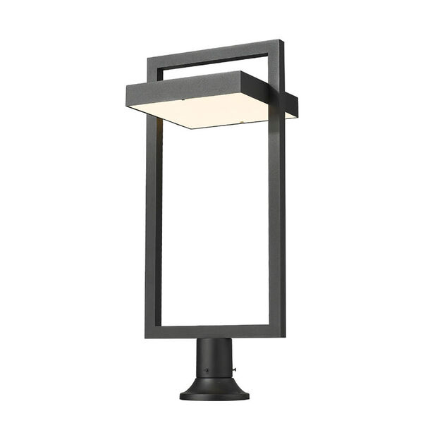 Luttrel Black Outdoor LED Pier Mount with Round Base, image 1