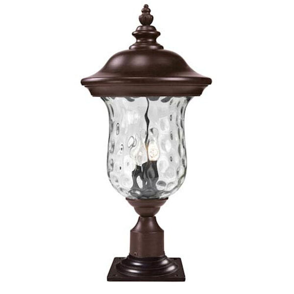 Armstrong Three-Light Rubbed Bronze Large Outdoor Pier Mount Light, image 1