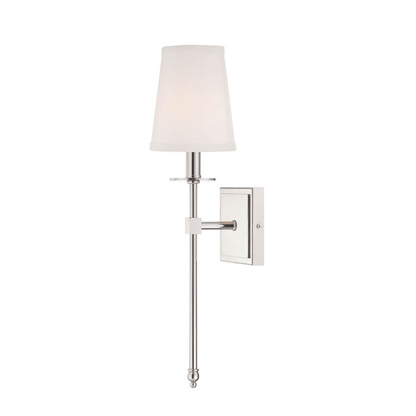 Monroe Polished Nickel One-Light 5-Inch Wide Wall Sconce, image 1