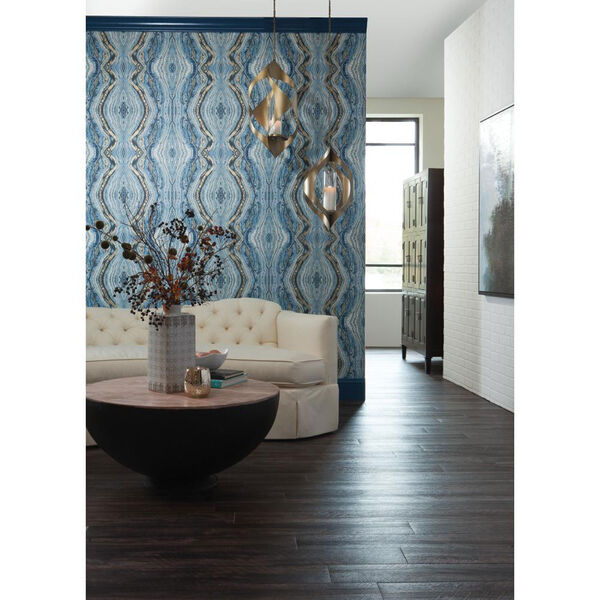 Antonina Vella Blue Kashmir Kaleidoscope Wallpaper, image 3