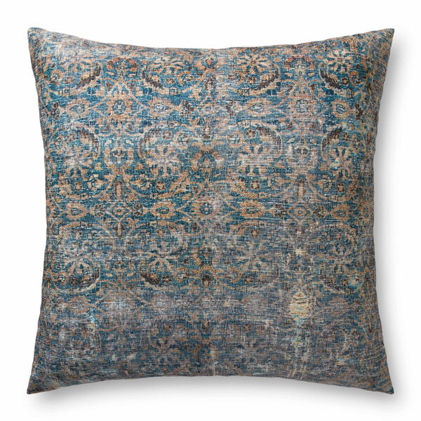 Lagoon and Brown 36-Inch x 36-Inch Floor Pillow, image 1