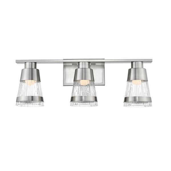 Ethos Brushed Nickel Three-Light LED Bath Vanity, image 2