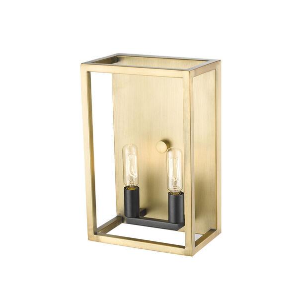 Quadra Olde Brass and Bronze Two-Light Bath Vanity, image 3