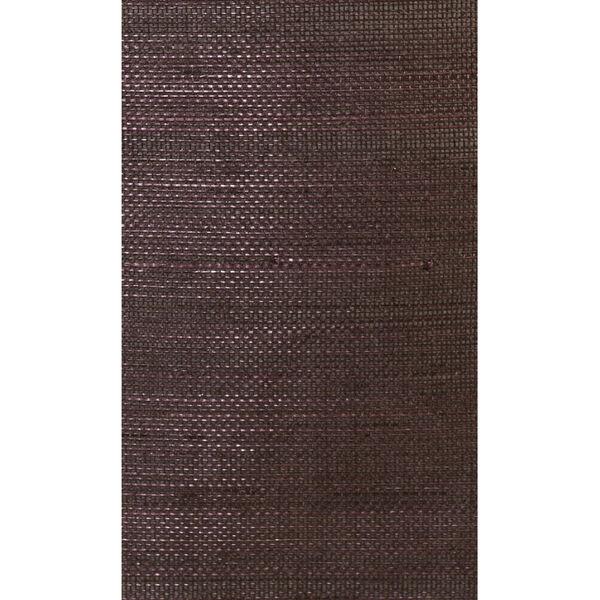Lillian August Luxe Retreat Deep Plum Abaca Grasscloth Unpasted Wallpaper, image 1