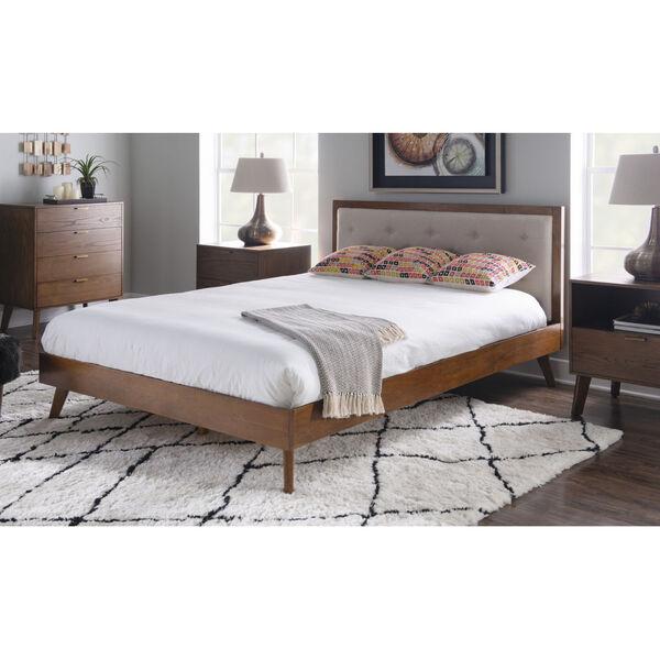 Ian Walnut Platform Queen Bed, image 6